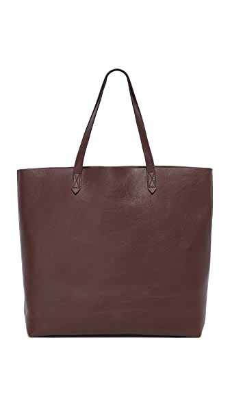 Madewell Transport Tote In Dark Cocoa