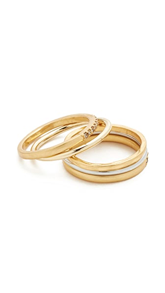 Madewell Filament Stacking Ring In Vintage Gold