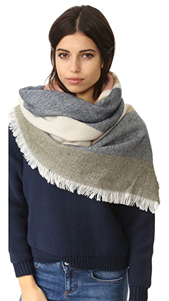 Madewell Colorblocked Blanket Scarf