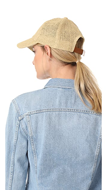 Madewell Paper Straw Baseball Hat