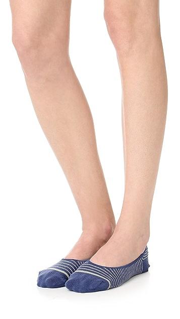 Madewell Mini Stripe No Show Sock 2 Pack