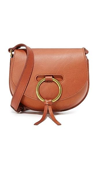 Madewell O Ring Mini Saddle Bag - Dark Chestnut