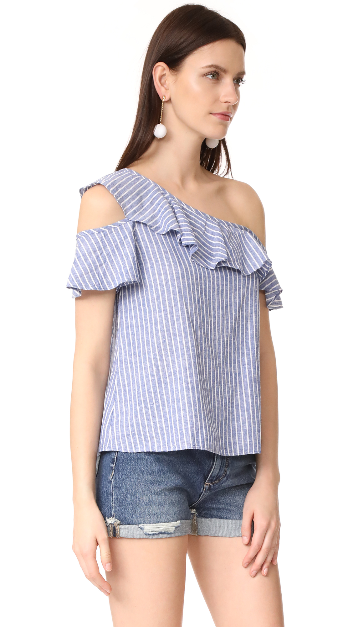 9502a052397 Madewell One Shoulder Ruffle Top | SHOPBOP