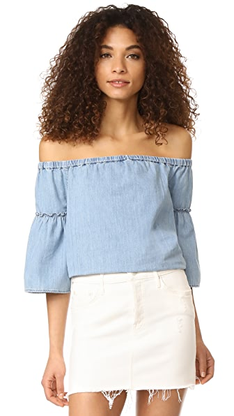 Madewell Off Shoulder Top - Kingston Wash