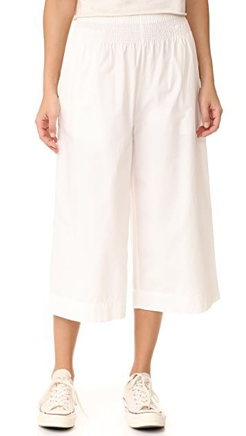 Madewell Smocked Mayfield Culotte Pants