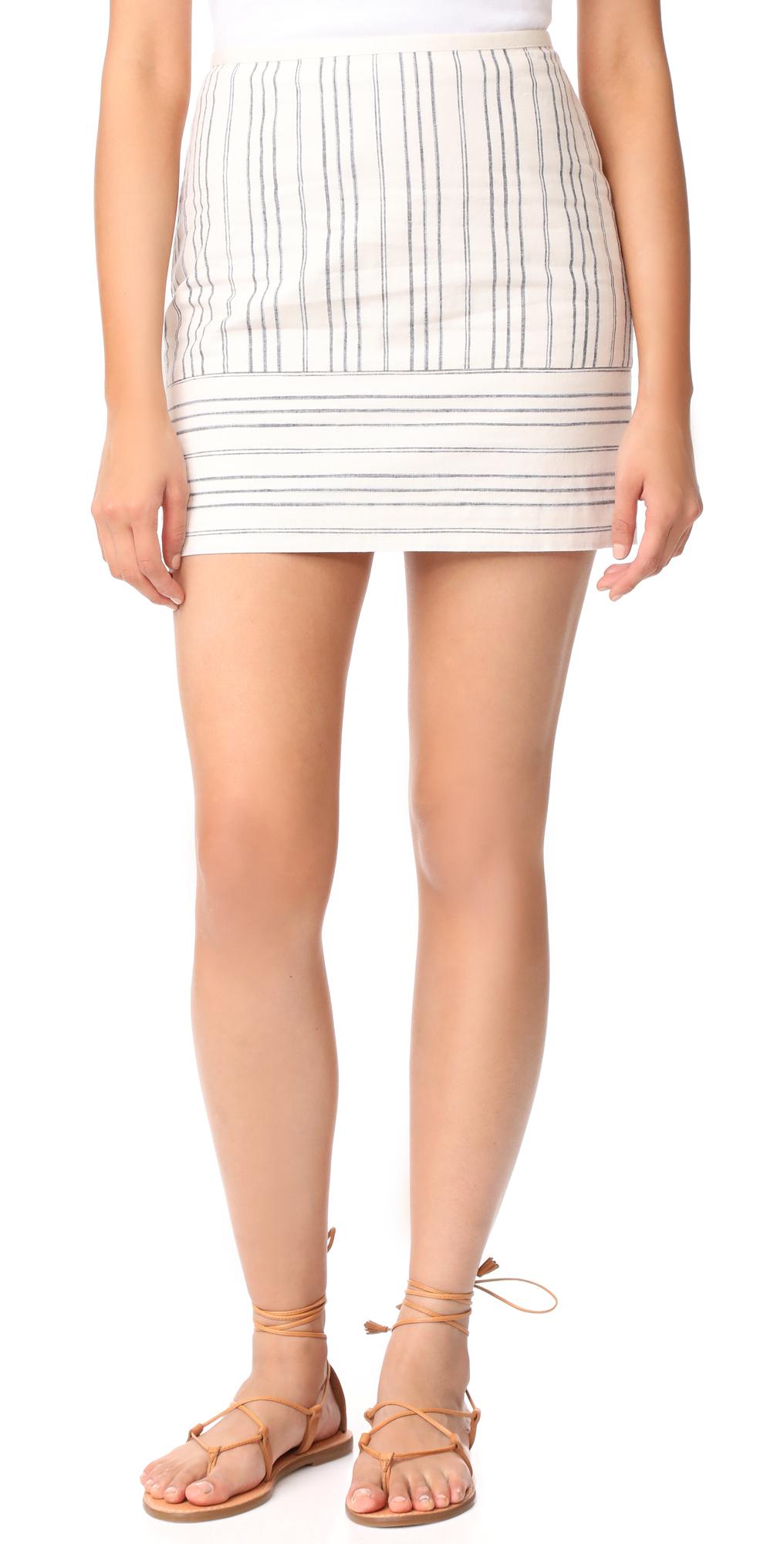 Gamine Miniskirt in Stripe Play Madewell