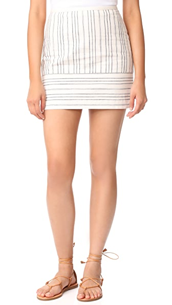 Madewell Gamine Miniskirt in Stripe Play In Brilliant Royal