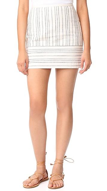 Madewell Gamine Miniskirt in Stripe Play