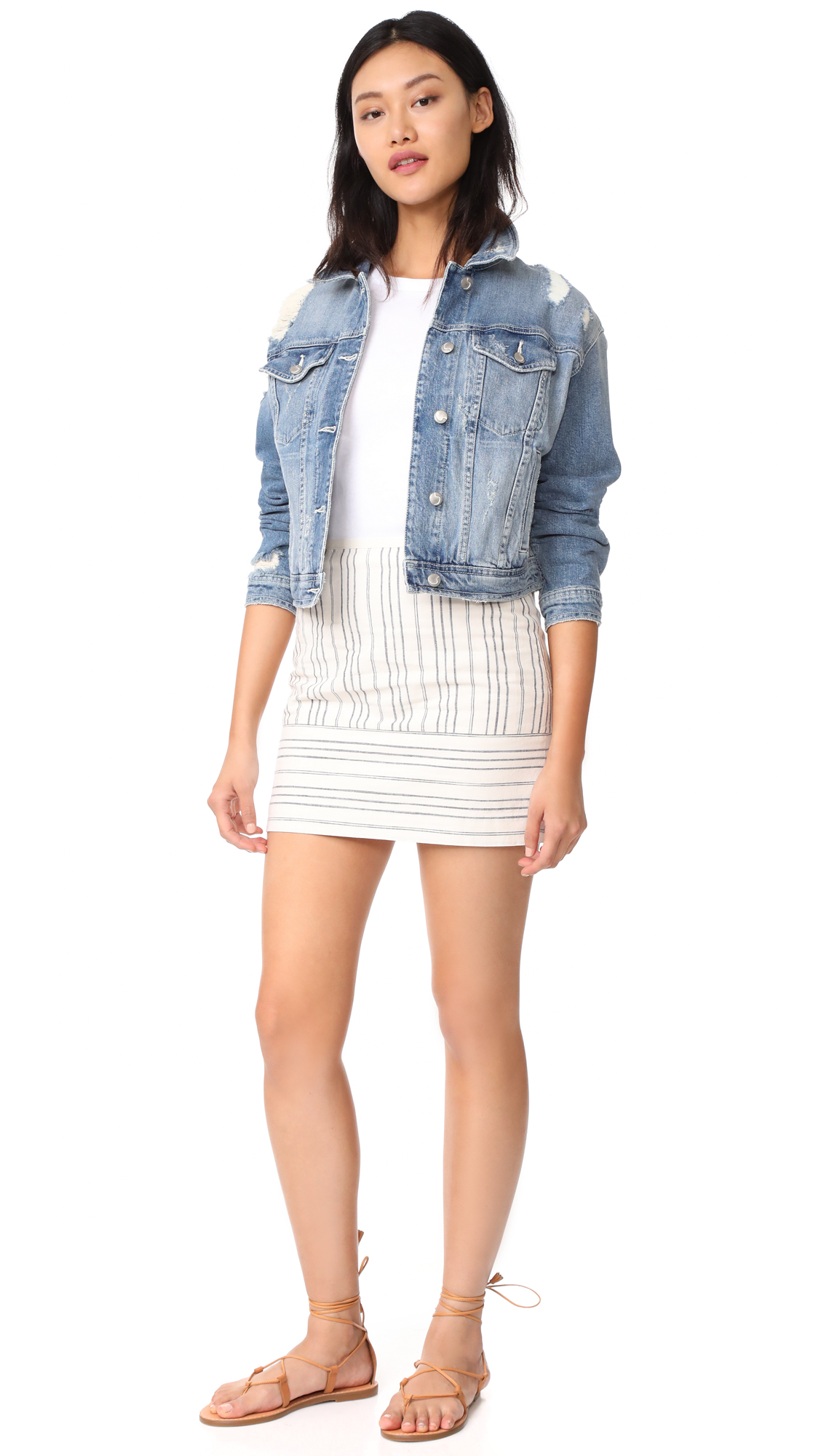 Madewell Gamine Miniskirt in Stripe Play | SHOPBOP