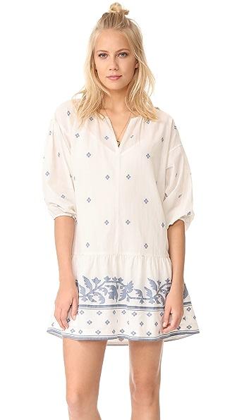 Madewell Jacquard Long Sleeve Tunic Dress