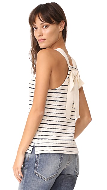 Madewell Striped Bow Back Tank Top