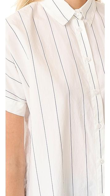 Madewell Short Sleeve Tie Front Shirt