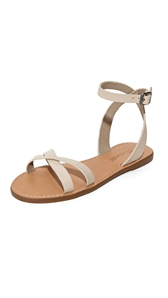 Madewell Ankle Wrap Crisscross Sandals