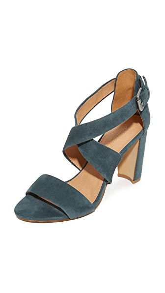 Madewell Violet Crisscross Sandals In Midnight Spruce