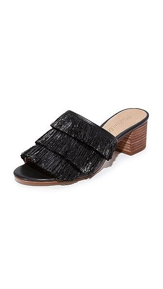 Madewell Devon Fringe Sandals - True Black