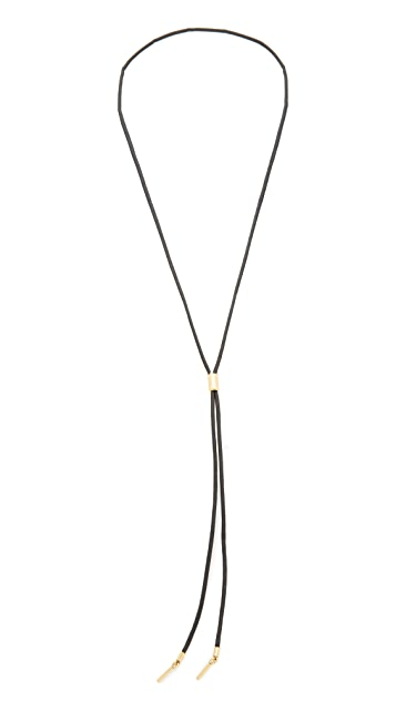 Madewell Black Cord Lariat Layer Necklace
