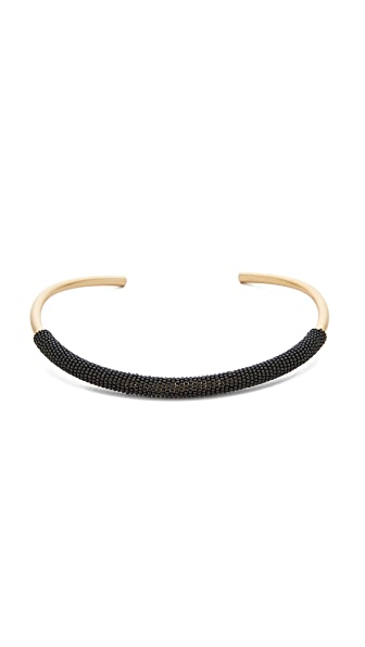 Madewell Bead Wrap Collar Necklace - True Black