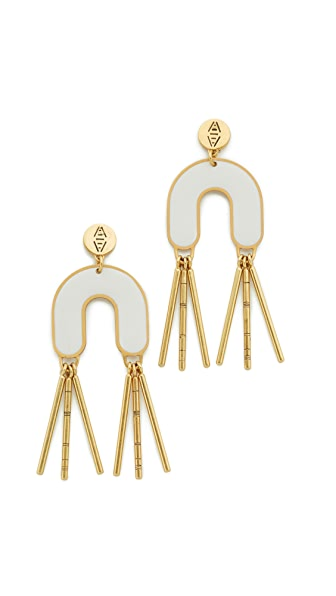 Madewell Enamel Fringe Earrings In White