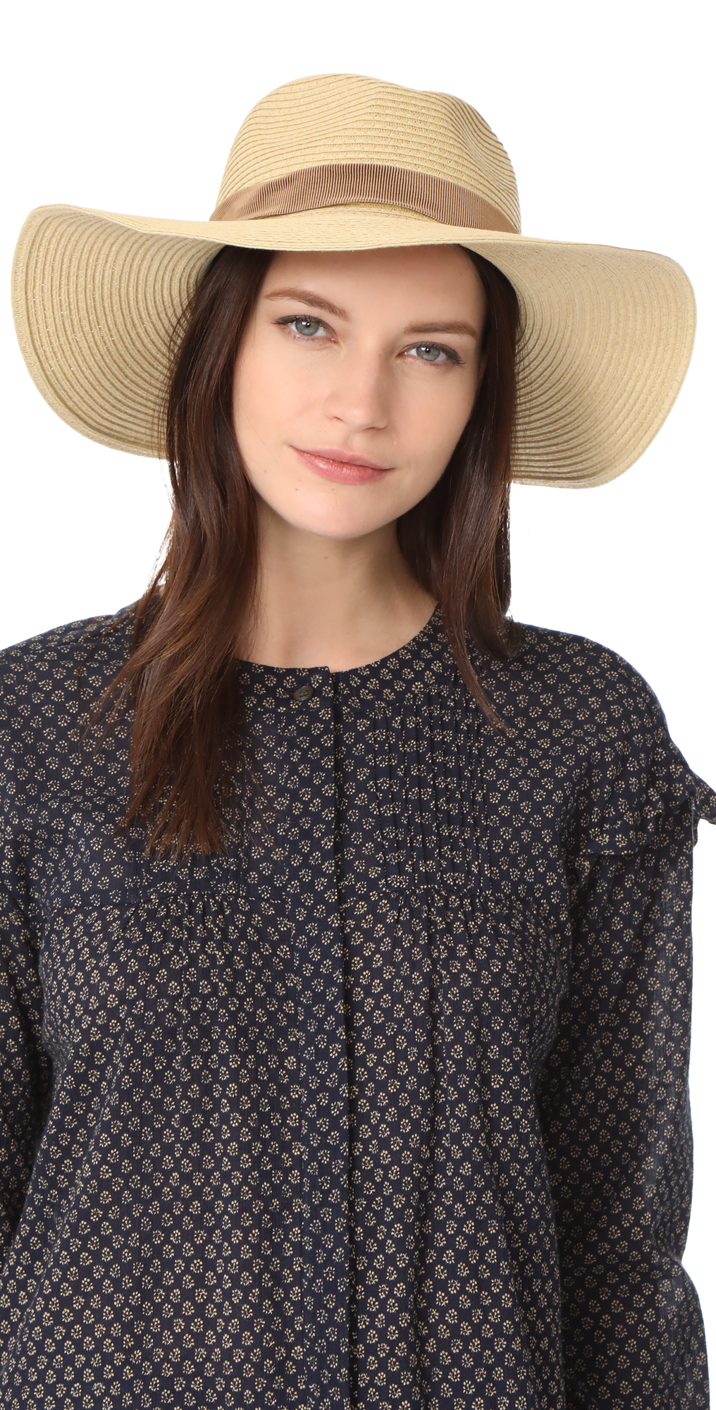 Stitched Packable Straw Hat Madewell