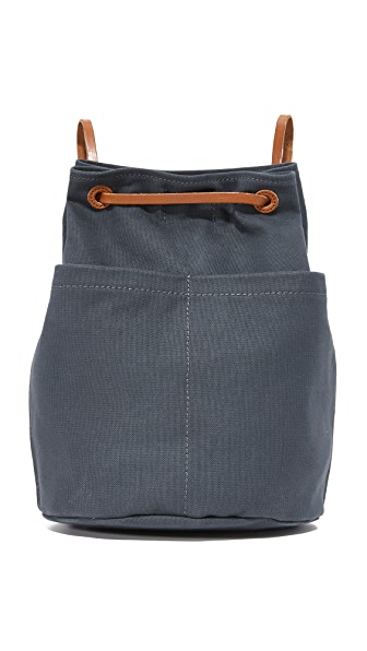 Madewell Canvas Rucksack - Black Sea