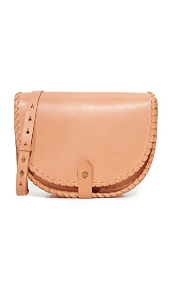 Madewell Whipstitch Saddle Bag - Natural Buff