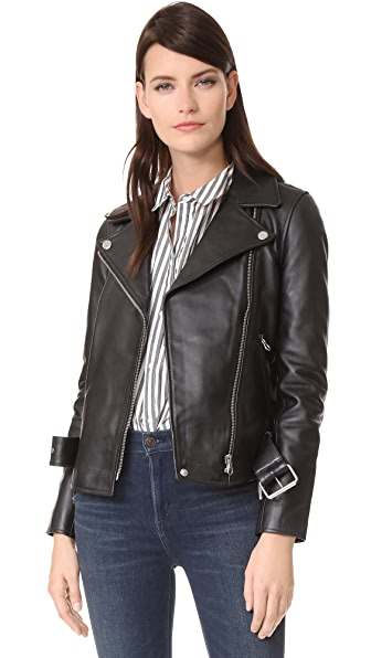 Madewell Ultimate Leather Moto Jacket - True Black