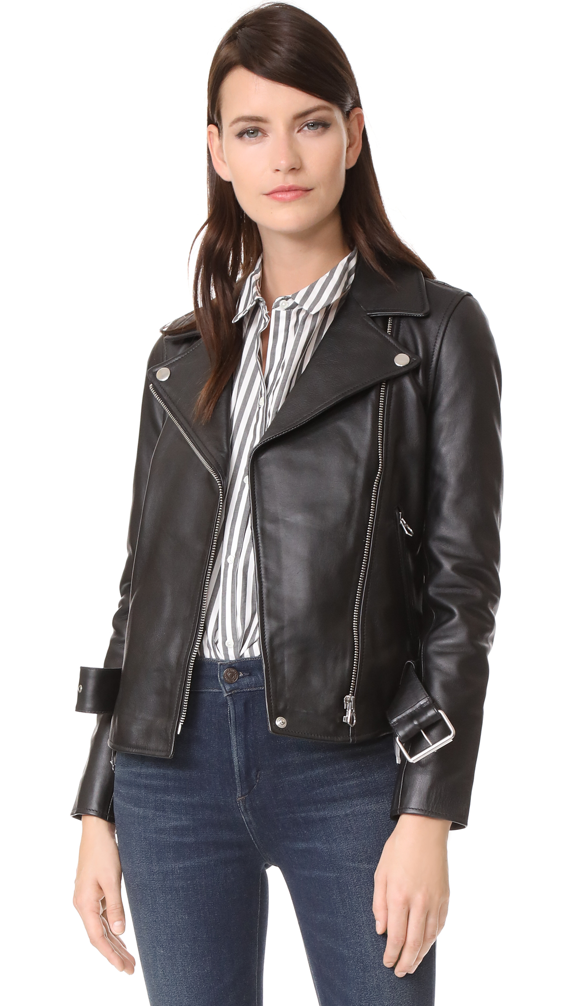 Madewell Ultimate Leather Moto Jacket In True Black