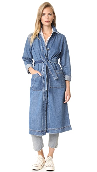 Madewell Denim Duster Coat - Granger Wash