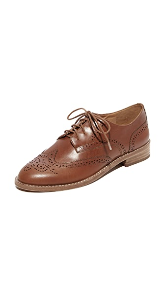 Madewell Kenton Brogue Oxfords - Dark Chestnut