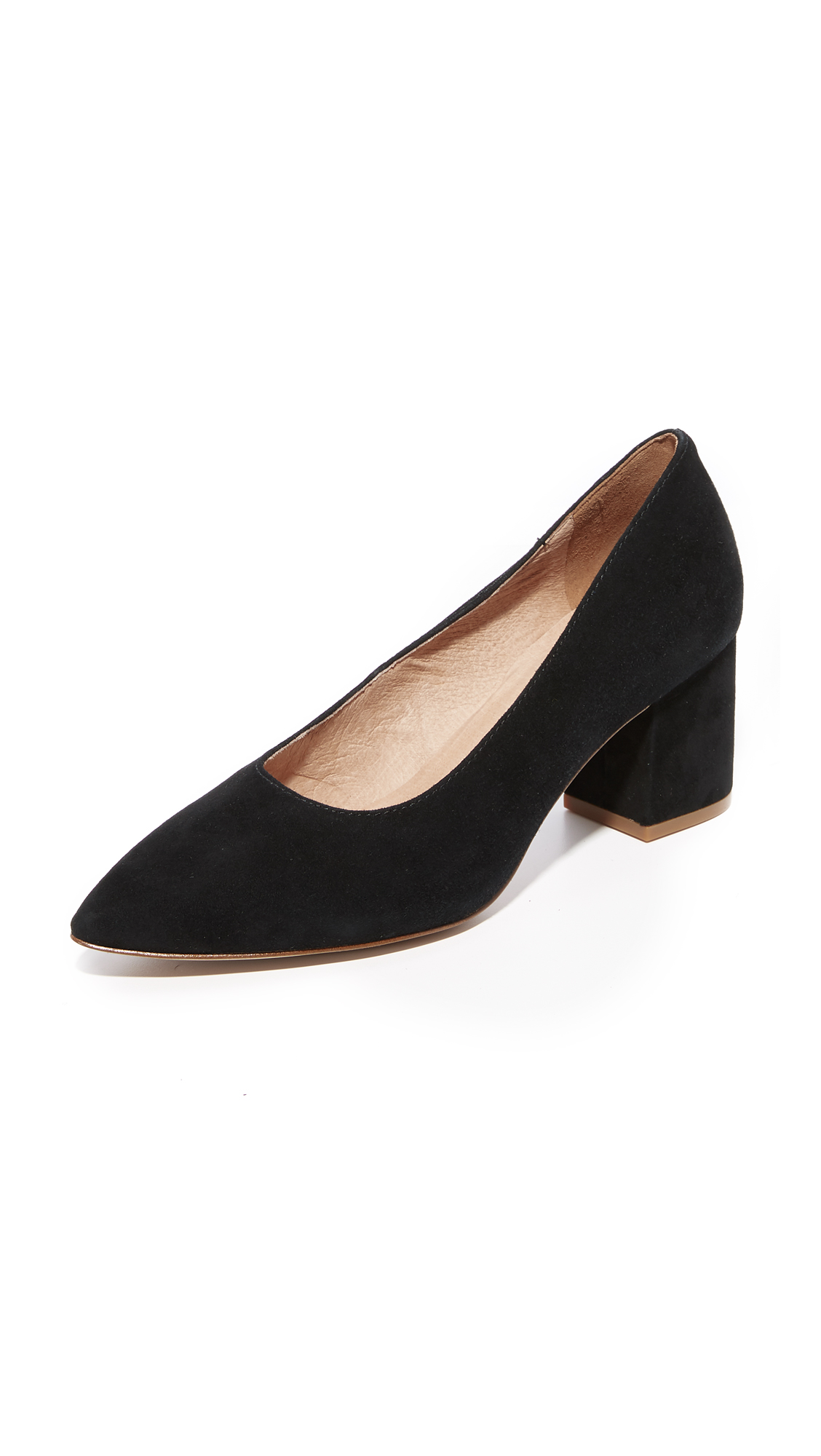 Madewell Rivka Heels - Black Sea