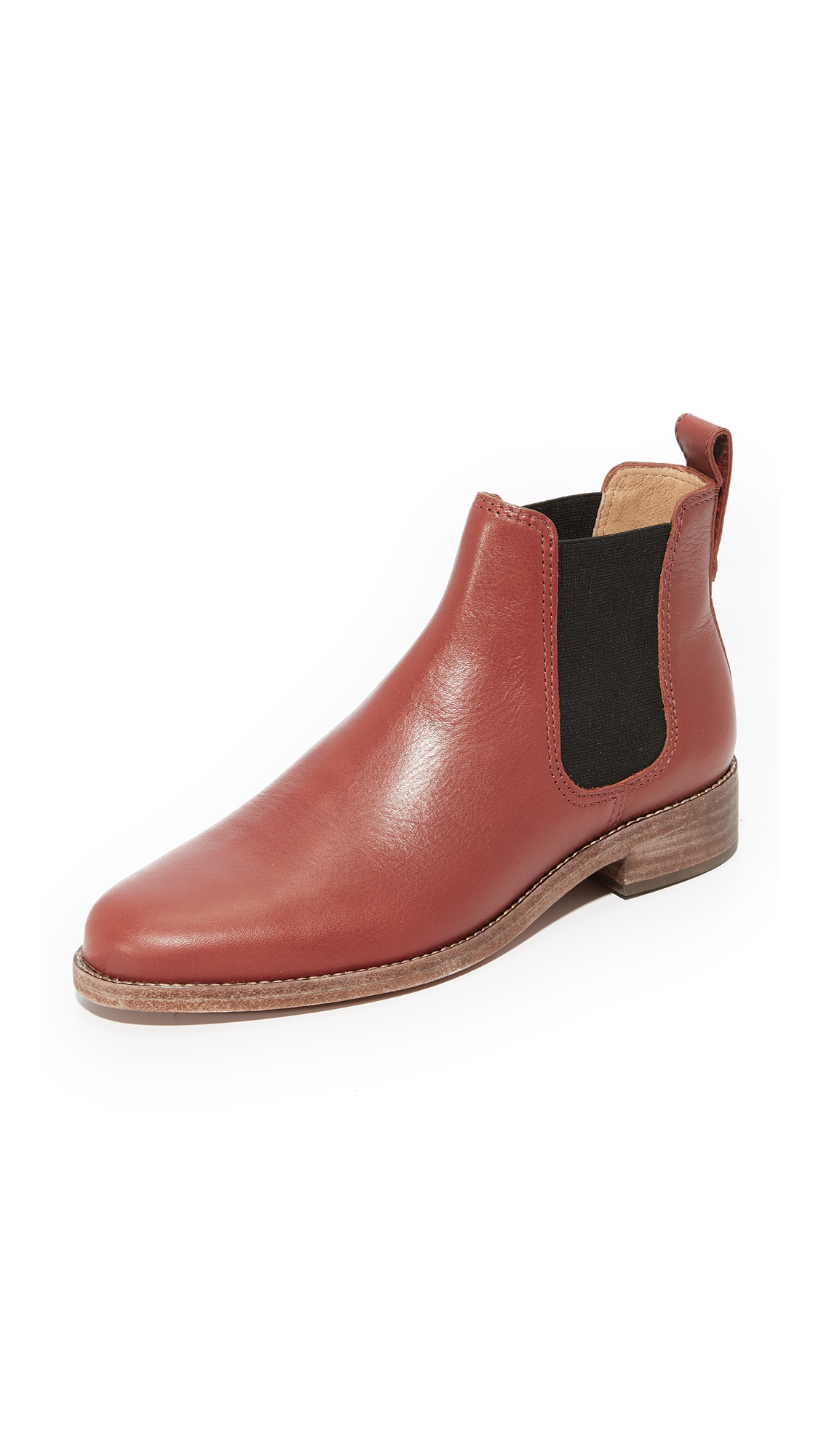 Madewell Ainsley Chelsea Boots - Vintage Redwood