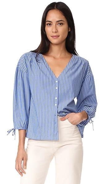 Madewell Morningview Tie Sleeve Shirt