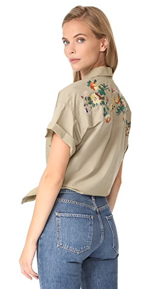 Madewell Safari Shirt - Ash Green