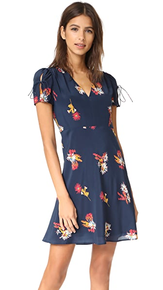 Madewell Angelina Dress in Cactus Floral - Deep Navy