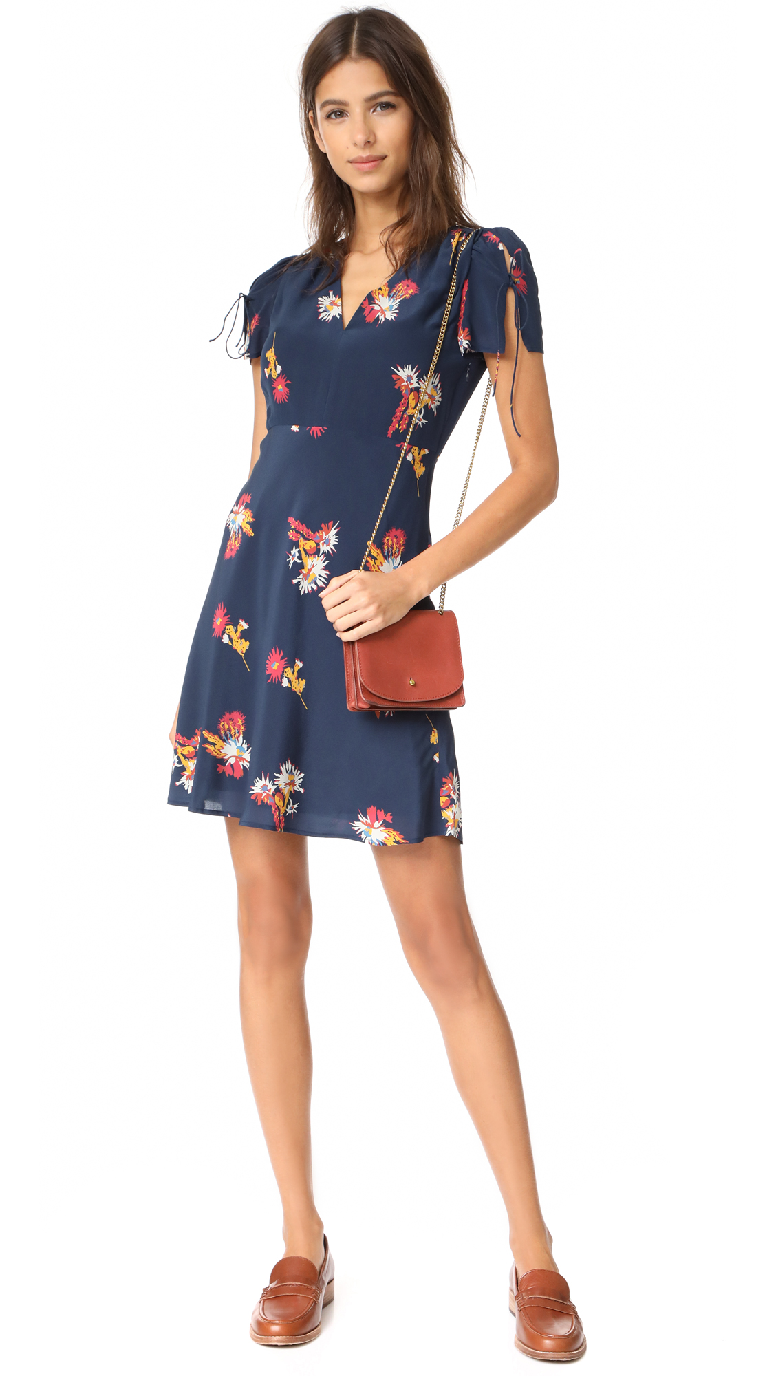 1447498355a Madewell Silk Poppy Dress
