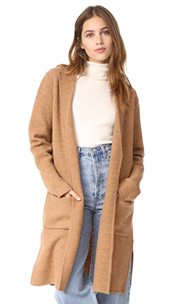 Madewell Camden Sweater Coat In Heather Camel