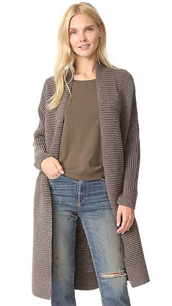 Madewell Fulton Sweater Coat In Heather Mink