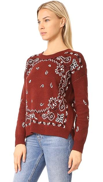 Madewell Bandana Pullover Sweater