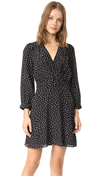 Madewell Silk Wrap Neckline Dress