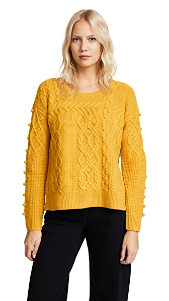 MADEWELL Bobble Pullover Sweater in Mystic Yellow | ModeSens