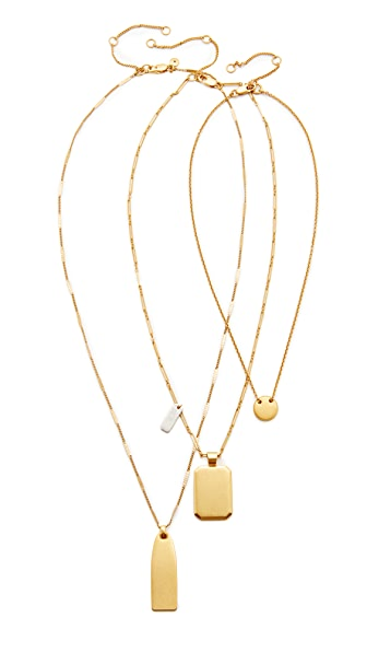 Madewell Multi Layer Pendant Necklace - Mixed Metals