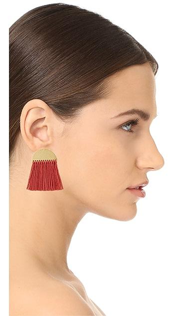 Madewell Half-Moon Fringe Earrings