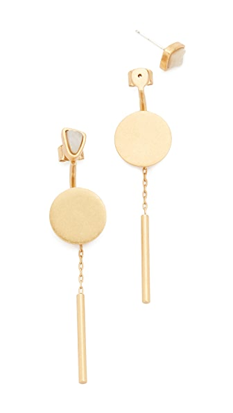 Madewell Circle Post Earrings - Vintage Gold