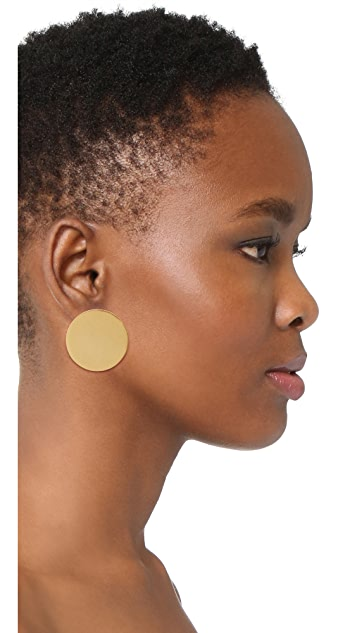 Madewell Front-Back Disc Earrings