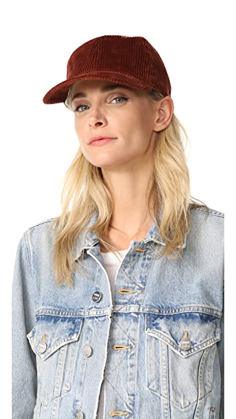 Madewell Corduroy Baseball Hat - Burnished Mahogany