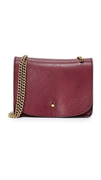 Madewell Chain Cross Body Bag - Dark Cabernet