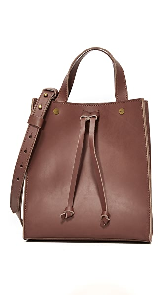 Madewell Small Trick Handle Tote - Rich Brown