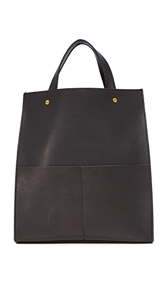 Madewell Large Trick Handle Tote - True Black