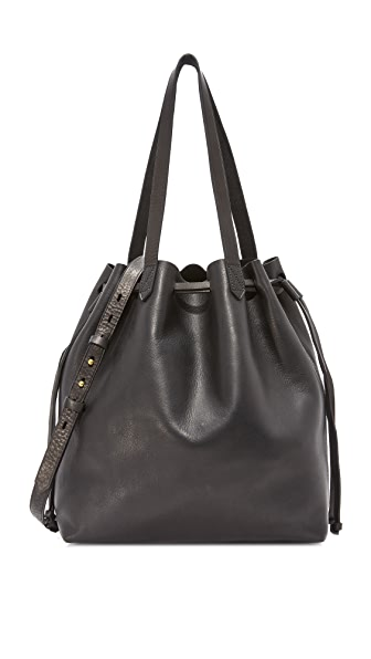 Madewell Drawstring Transport Tote - True Black