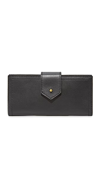 Madewell The Post Wallet In True Black